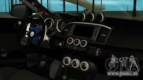 Mitsubishi Lancer Evolution X WBK für GTA San Andreas rechten Ansicht