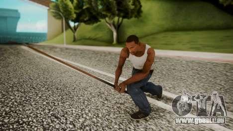 Pool Cue HD pour GTA San Andreas troisième écran