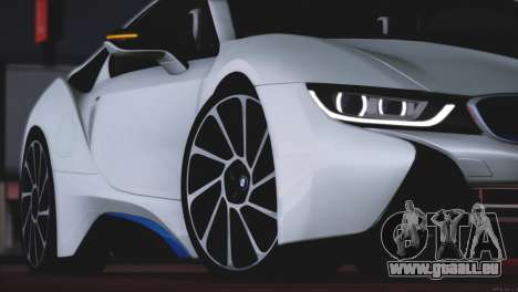BMW i8 Coupe 2015 für GTA San Andreas obere Ansicht