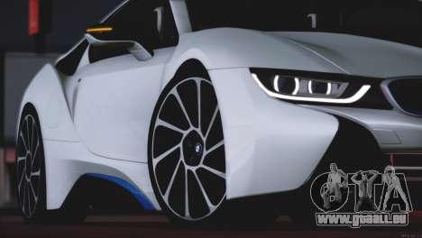 BMW i8 Coupe 2015 pour GTA San Andreas vue de dessus
