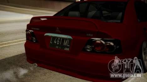 Mitsubishi Galant VR6 Stance pour GTA San Andreas vue arrière