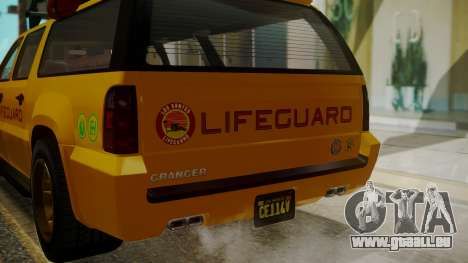 GTA 5 Declasse Granger Lifeguard IVF für GTA San Andreas Seitenansicht