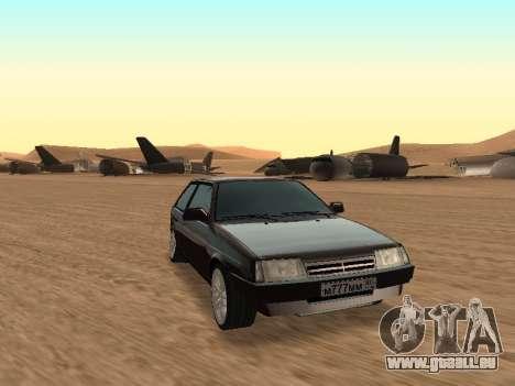 VAZ 2108 pour GTA San Andreas sur la vue arrière gauche