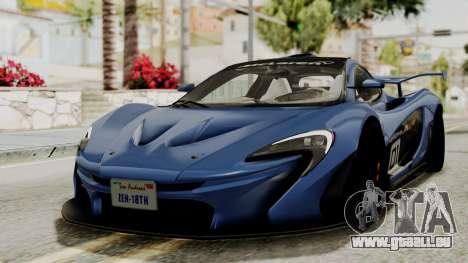 McLaren P1 GTR v1.0 pour GTA San Andreas