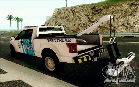 Ford F150 2015 Towtruck für GTA San Andreas rechten Ansicht