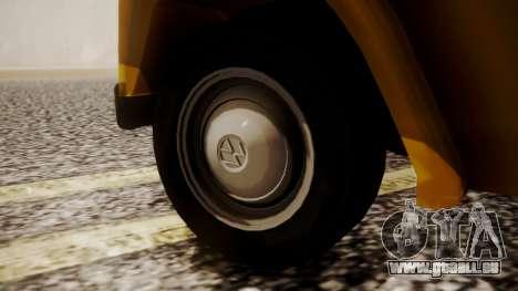 Volkswagen Safari Type 181 für GTA San Andreas zurück linke Ansicht