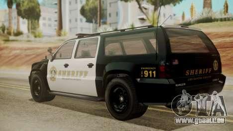 GTA 5 Declasse Granger Sheriff SUV IVF pour GTA San Andreas laissé vue