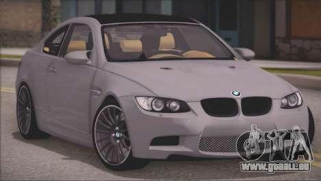 BMW M3 E92 2008 für GTA San Andreas linke Ansicht