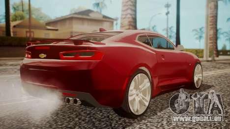 Chevrolet Camaro SS 2016 pour GTA San Andreas laissé vue