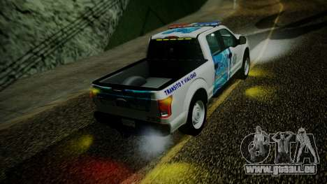 Ford F-150 2015 Transito Vial pour GTA San Andreas vue arrière