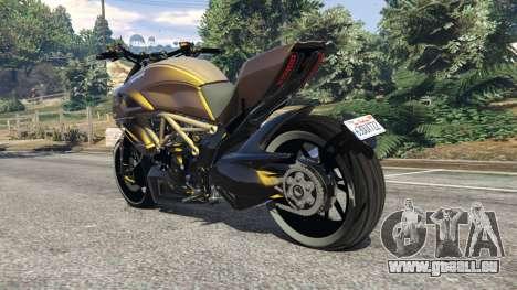 GTA 5 Ducati Diavel Carbon 11 v1.1 arrière vue latérale gauche