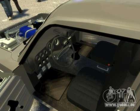 Ваз 2106 Kavkaz Style pour GTA 4 est une vue de l'intérieur