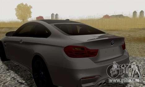 BMW M4 F82 pour GTA San Andreas vue arrière