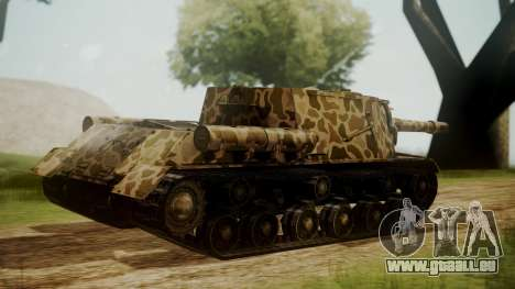 ISU-152 Panther Desert from World of Tanks pour GTA San Andreas laissé vue