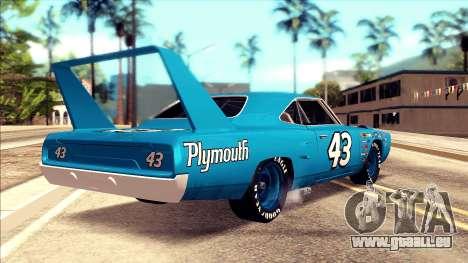 Plymouth Superbird 1943 pour GTA San Andreas laissé vue