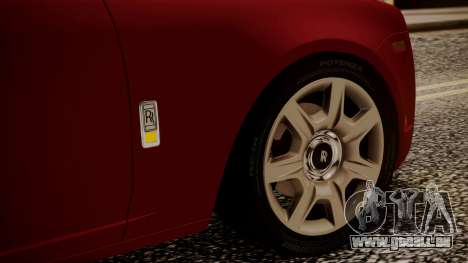 Rolls-Royce Ghost v1 pour GTA San Andreas vue de dessus
