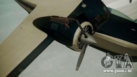 Grumman G-21 Goose Black and White für GTA San Andreas rechten Ansicht