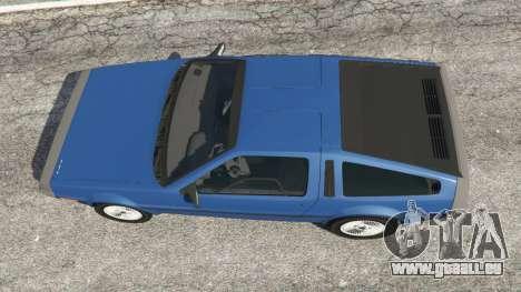 GTA 5 DeLorean DMC-12 v1.1 vue arrière