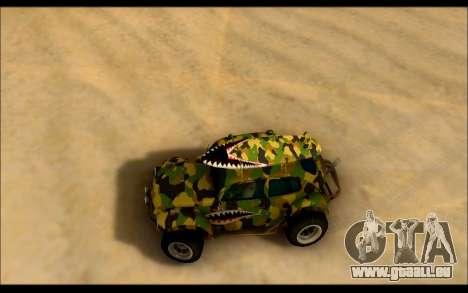 Volkswagen Baja Buggy Camo Shark Mouth pour GTA San Andreas vue de droite