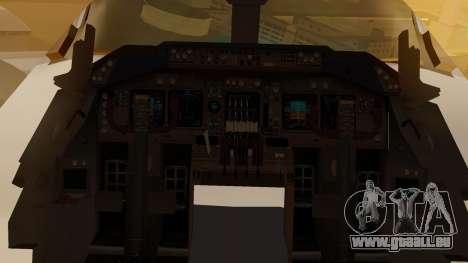 Boeing 747-200 Fly US pour GTA San Andreas vue intérieure