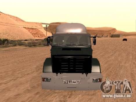 ZIL-133 05A pour GTA San Andreas vue intérieure