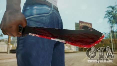 GTA 5 Machete (From Lowider DLC) Bloody pour GTA San Andreas