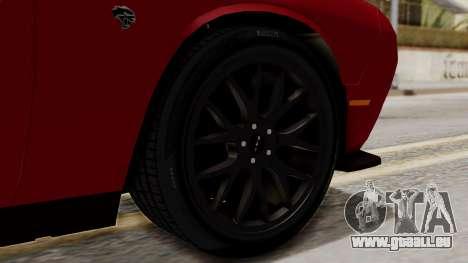 Dodge Challenger SRT Hellcat 2015 HQLM für GTA San Andreas zurück linke Ansicht