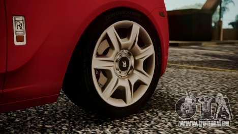 Rolls-Royce Ghost v1 pour GTA San Andreas sur la vue arrière gauche