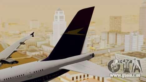 Airbus A380-800 British Overseas Airways Corp. für GTA San Andreas zurück linke Ansicht