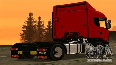 Scania R420 4x2 pour GTA San Andreas sur la vue arrière gauche