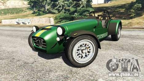 GTA 5 Caterham Super Seven 620R v1.5 [green] rechte Seitenansicht