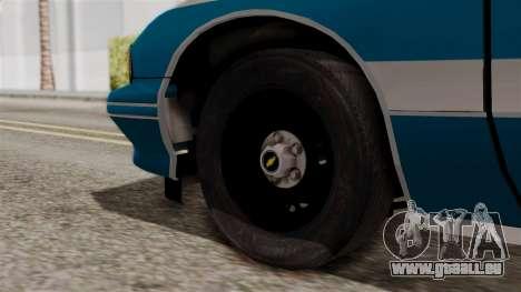 Chevy Caprice Station Wagon 1993-1996 NYPD pour GTA San Andreas sur la vue arrière gauche
