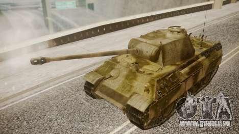 Panzerkampfwagen V Ausf. A Panther pour GTA San Andreas