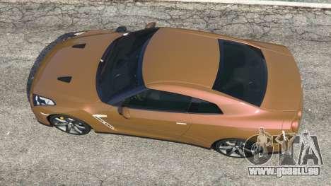 GTA 5 Nissan GT-R (R35) Rückansicht