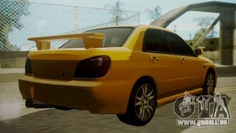Subaru Impreza WRX GDA pour GTA San Andreas laissé vue
