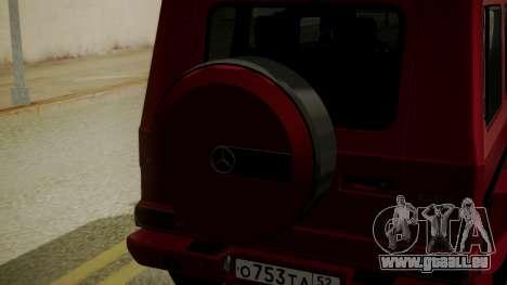Mercedes-Benz G350 Bluetec pour GTA San Andreas vue arrière