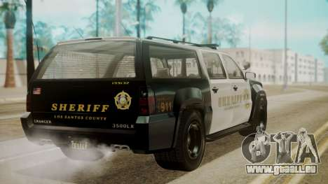 GTA 5 Declasse Granger Sheriff SUV für GTA San Andreas linke Ansicht