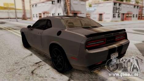 Dodge Challenger SRT Hellcat 2015 HQLM pour GTA San Andreas moteur