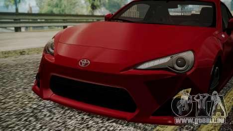 Toyota GT86 2012 LQ pour GTA San Andreas vue de côté