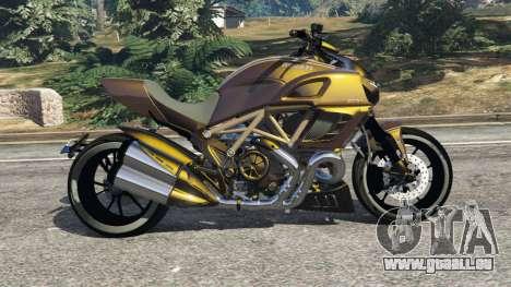 GTA 5 Ducati Diavel Carbon 11 v1.1 vue latérale gauche