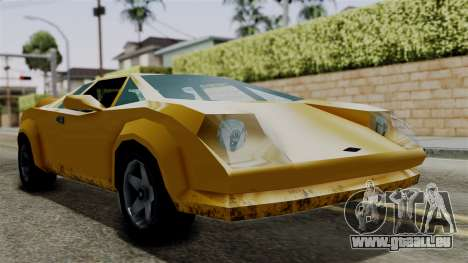 Infernus from Vice City Stories für GTA San Andreas zurück linke Ansicht