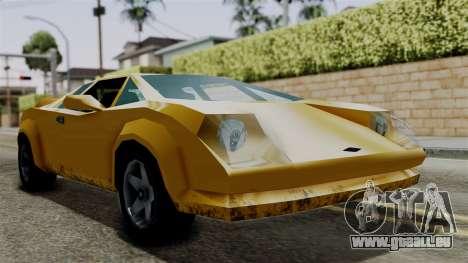 Infernus from Vice City Stories für GTA San Andreas zurück linke Ansicht