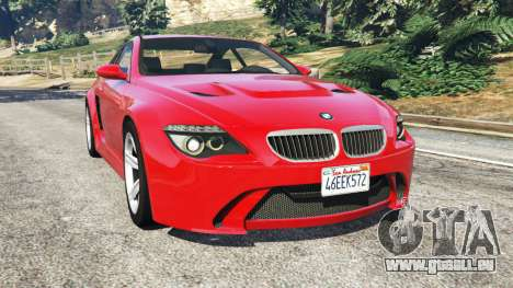 BMW M6 (E63) WideBody v0.1 [red] pour GTA 5