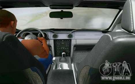 Ford Mustang GT 2005 für GTA San Andreas Innenansicht
