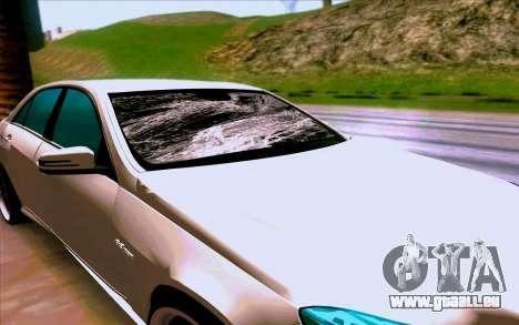 Mercedes-Benz E63 AMG pour GTA San Andreas vue intérieure