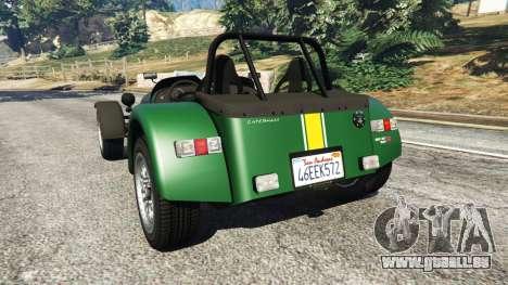 GTA 5 Caterham Super Seven 620R v1.5 [green] hinten links Seitenansicht