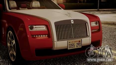 Rolls-Royce Ghost v1 pour GTA San Andreas vue intérieure