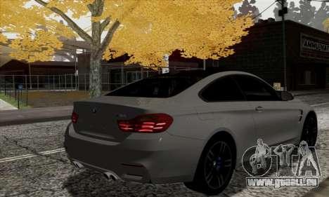 BMW M4 F82 pour GTA San Andreas sur la vue arrière gauche