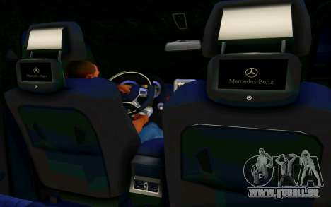 Mercedes-Benz G65 AMG pour GTA San Andreas vue intérieure
