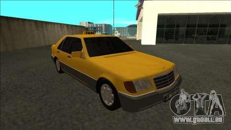Mercedes-Benz W140 500SE Taxi 1992 pour GTA San Andreas vue arrière